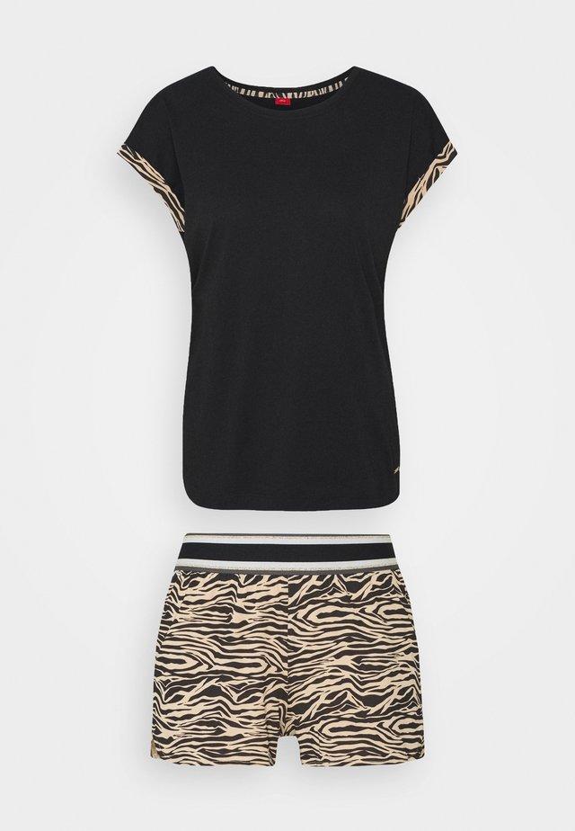 SET - Pyjama - black/beige