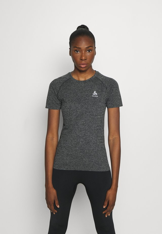 CREW NECK SEAMLESS ELEMENT - T-shirt con stampa - dark grey