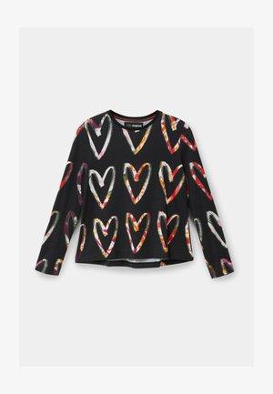 HEARTS - Pitkähihainen paita - black