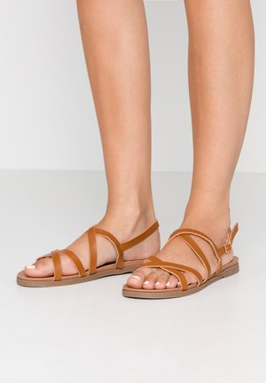 WIDE FIT GLORY - Sandals - tan