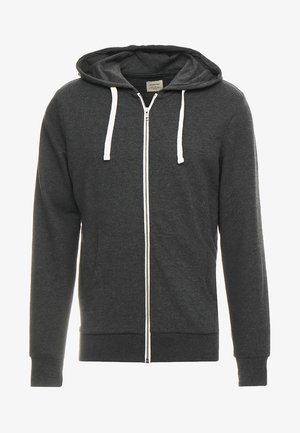 JJEHOLMEN - Zip-up hoodie - dark grey melange