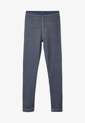 MERINOWOLL POLYESTER - Leggings - Trousers - ombre blue
