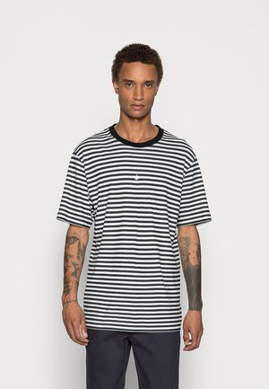 AZURE STRIPE RETRO FIT TEE - T-shirt print - black