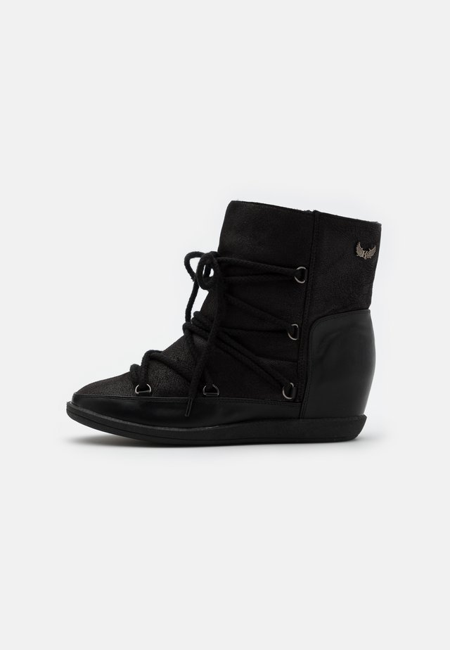 SALIA - Wedge Ankle Boots - noir