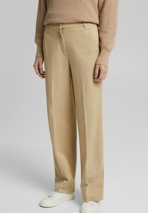 SOFT PUNTO - Trousers - sand