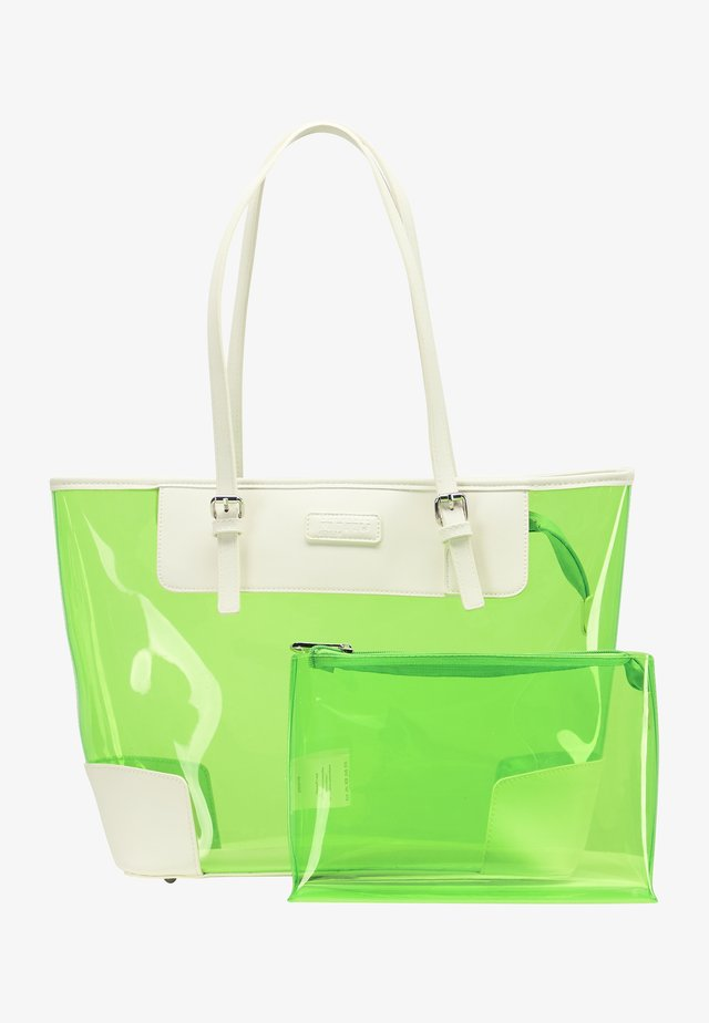 Shopping bag - neon green