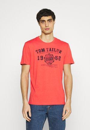LOGO TEE - Print T-shirt - plain red