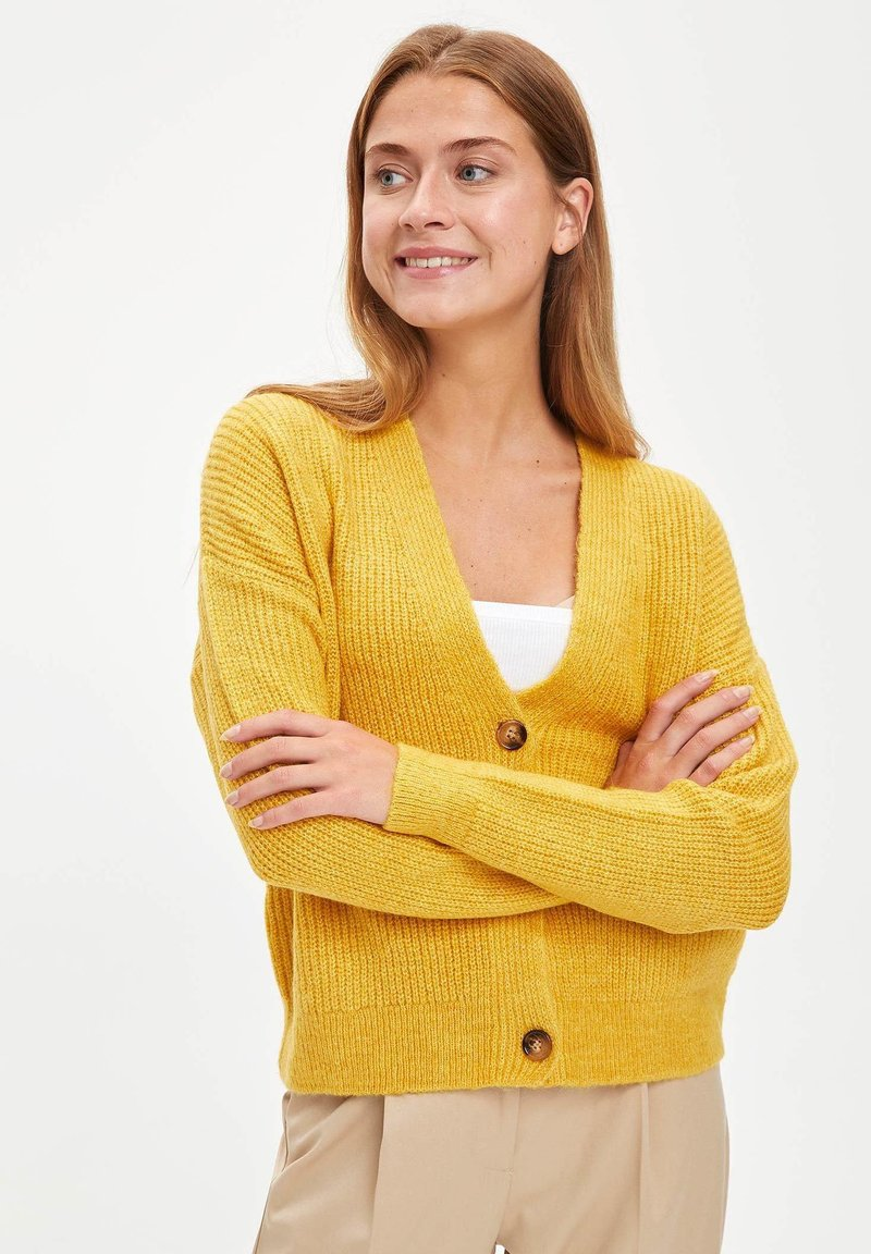DeFacto - Cardigan - yellow