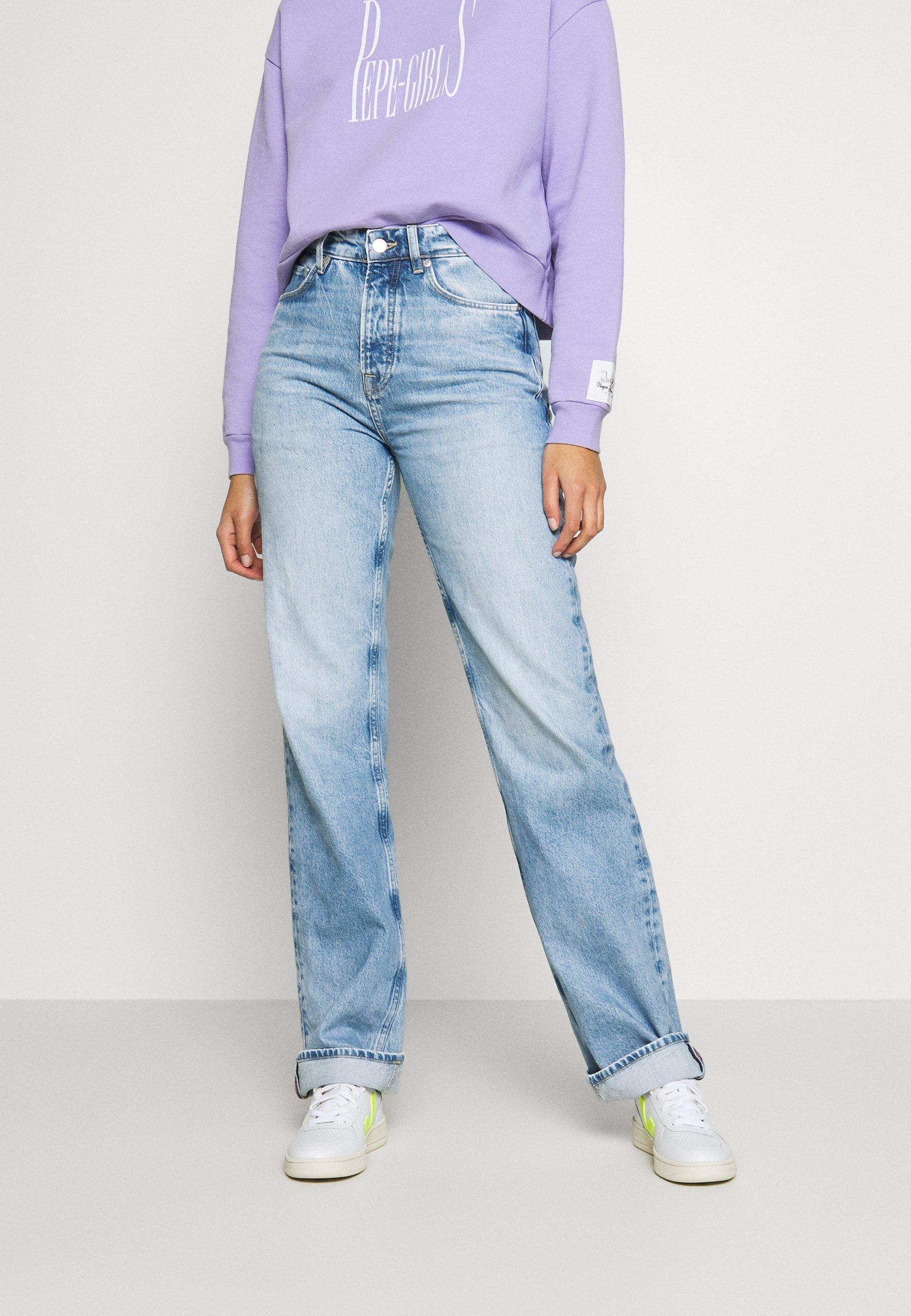 DUA LIPA x PEPE JEANS Jeans straight leg light blue denim