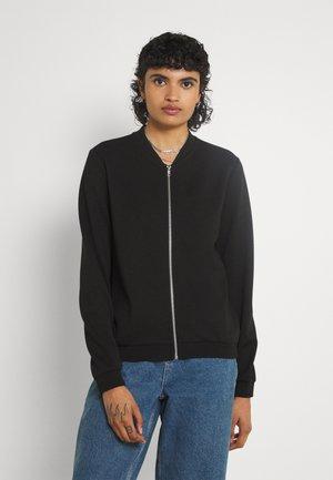 ONLSCARLETT ZIP BOMBER JACKET - Zip-up sweatshirt - black