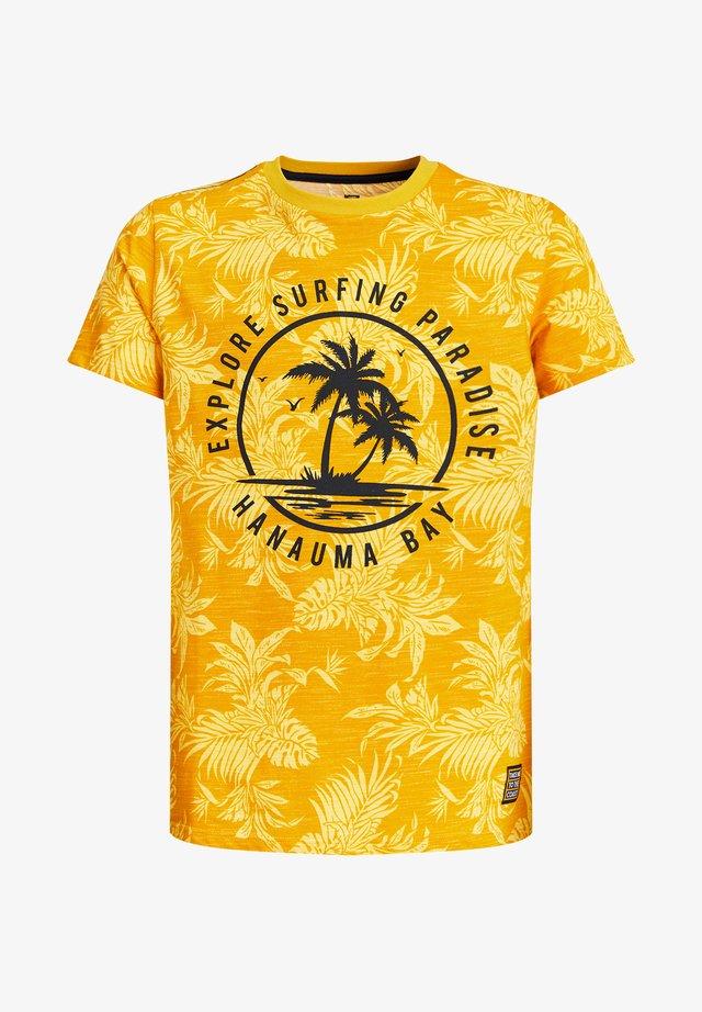 T-shirt con stampa - ochre yellow