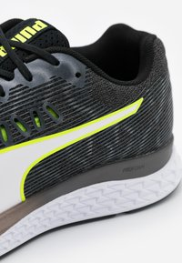 Puma - SPEED SUTAMINA - Neutral running shoes - black/castlerock/yellow alert/white - 5