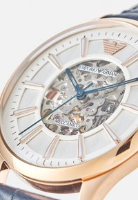 Emporio Armani - Watch - rosegold-coloured/blue - 3