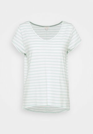 SLUB - Print T-shirt - light aqua green
