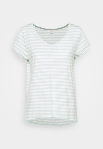SLUB - Print T-shirt - light aqua green