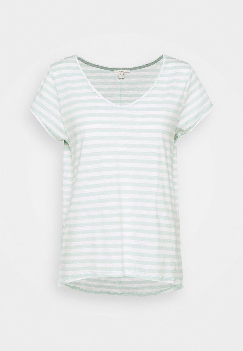 Esprit - SLUB - Print T-shirt - light aqua green