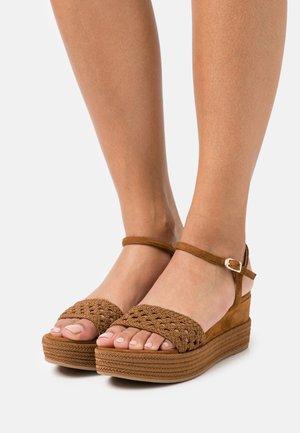 KISOME  - Platform sandals - argan