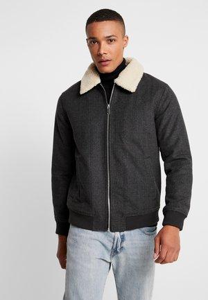 PINSTRIPE BORG - Light jacket - grey