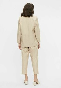 Object - Leather jacket - beige - 2