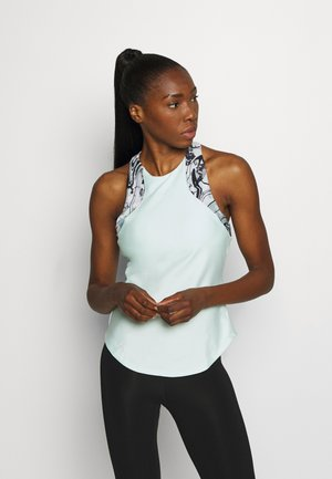 SPORT PRINT 2IN1 TANK - Sports shirt - seaglass blue