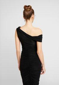 Club L London - DRAPE WRAP BODYSUIT - Print T-shirt - black - 2