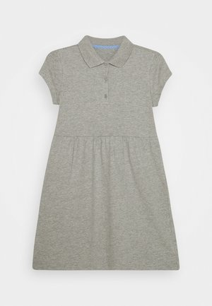 GIRL POLO DRESS - Robe d'été - light heather grey