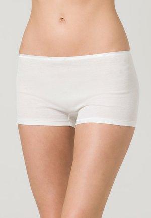 COTTON SEAMLESS - Pants - white