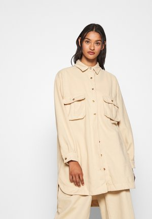 OVERSIZED DRESS - Shirt dress - cream