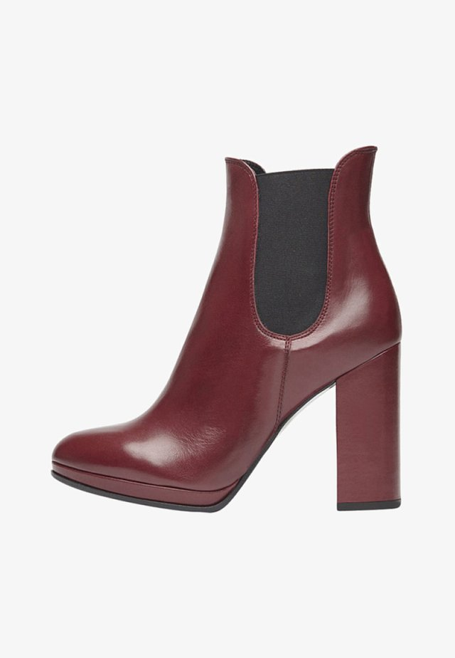 High Heel Stiefelette - bordeaux
