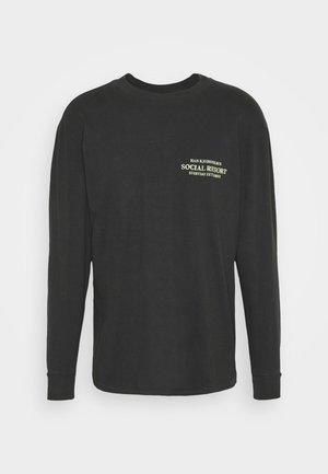 BOXY TEE LONG SLEEVE - Top sdlouhým rukávem - faded black