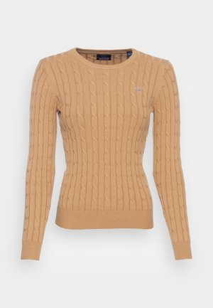 CABLE CREW - Pullover - warm khaki