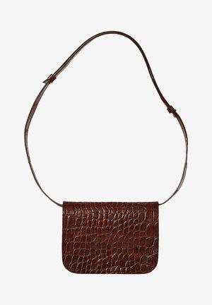 PITZI - Across body bag - brown croco