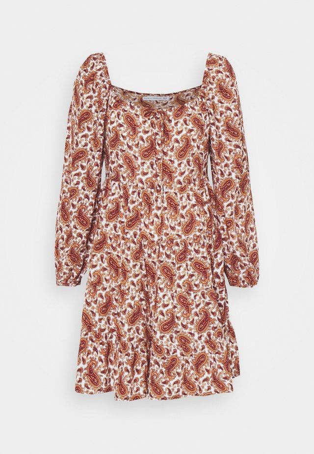 NALINE DRESS - Korte jurk - burgundy