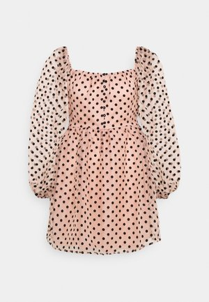 SPOT BUTTON PLACKETT DRESS - Kjole - baby pink