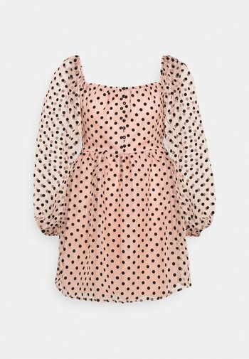 SPOT BUTTON PLACKETT DRESS