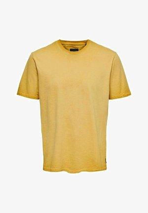 ONSMILLENIUM LIFE WASHED TEE - Basic T-shirt - nugget gold