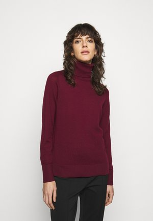 TURTLE NECK - Jumper - dark ruby