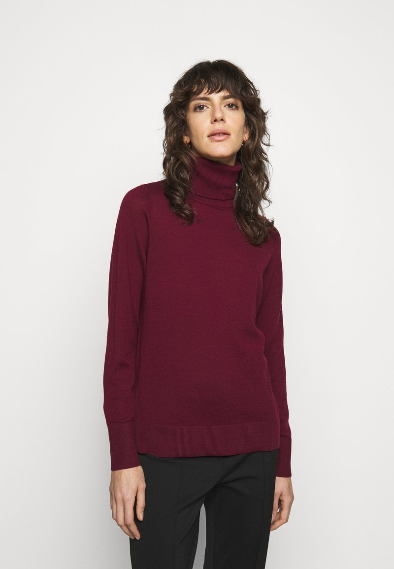 MICHAEL Michael Kors - TURTLE NECK - Jumper - dark ruby
