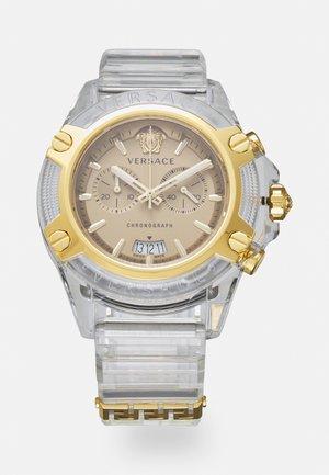CHRONO ACTIVE UNISEX - Chronograph watch - transparent white/gold-coloured