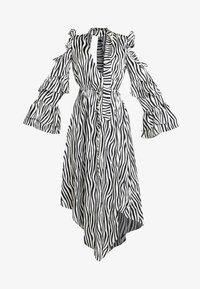 Honey Punch - NECK TIE DRESS - Maxi šaty - black/white - 6