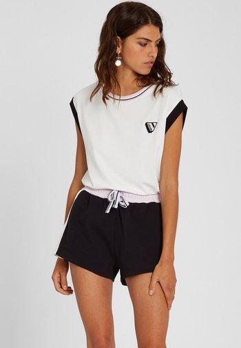 SIIYA KNIT TOP - Print T-shirt - white