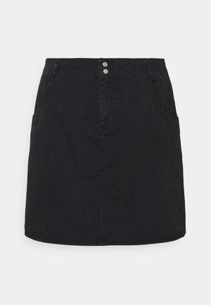 NMASHLEY SHORT SKIRT - Mini skirts  - black denim
