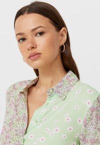 Stradivarius - Button-down blouse - mint - 3