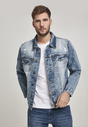 HERREN BASIC TRUCKER JACKET - Denim jacket - blue denim