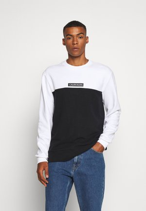 COLOR BLOCK - Sweatshirt - white