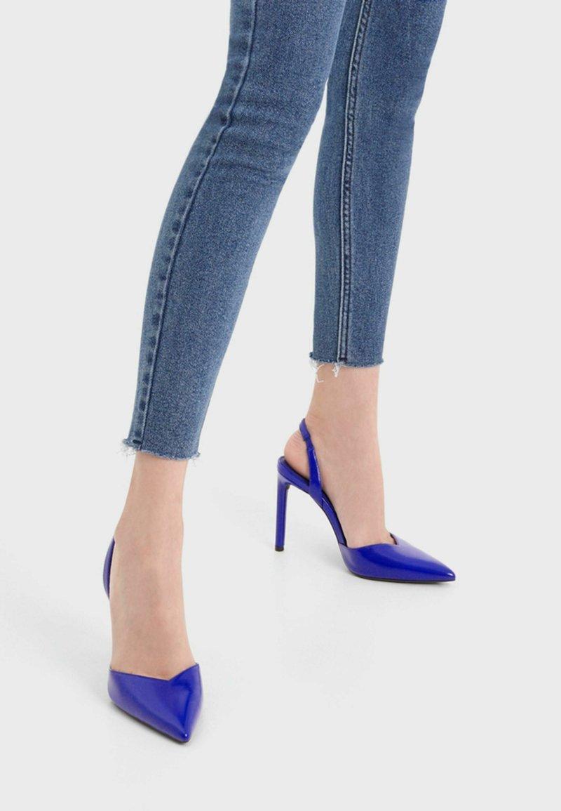 Bershka - High heels - metallic blue