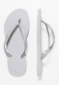Havaianas - SLIM GLITTER - Pool shoes - steel grey - 3