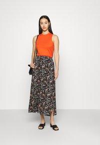 Vero Moda - VMSIMPLY EASY SKIRT - Maxi skirt - black/adda - 1