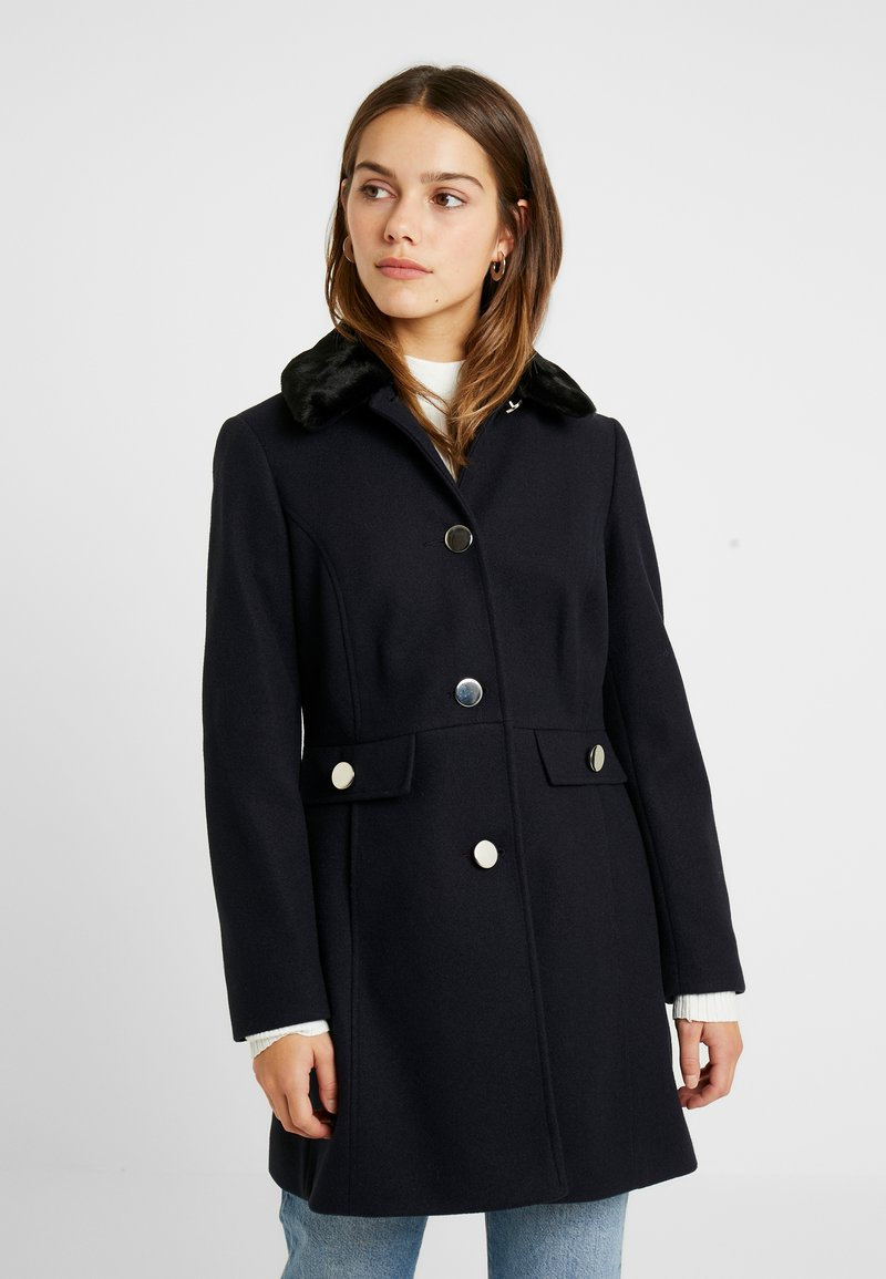 Dorothy Perkins Petite - DOLLY COAT   - Kåpe / frakk - navy
