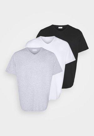 3 PACK - T-Shirt basic - white/ grey/black